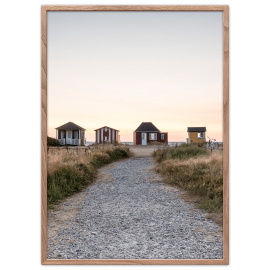 Bathing Huts Poster