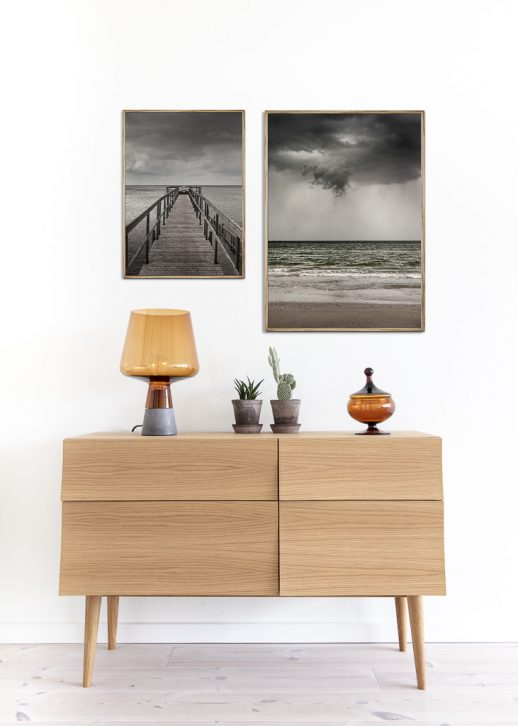 Pier and Beach poster
